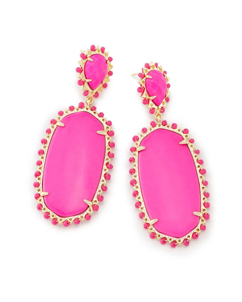 Parsons Statement Earrings in Magenta