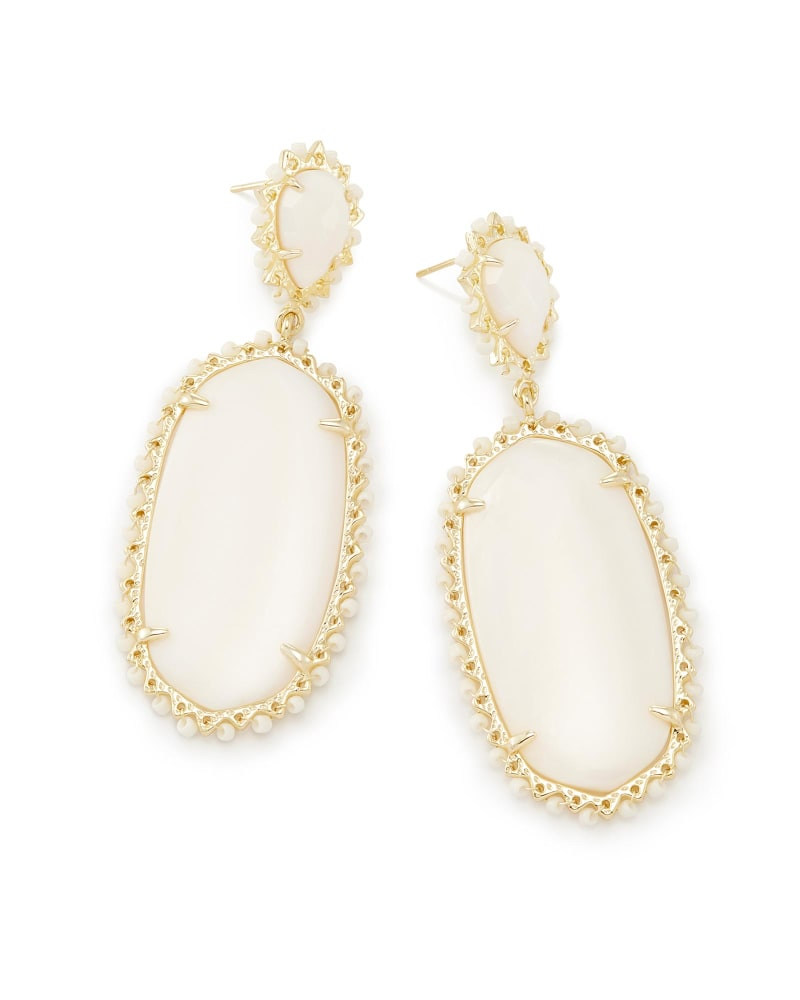 Parsons Statement Earrings in White Pearl