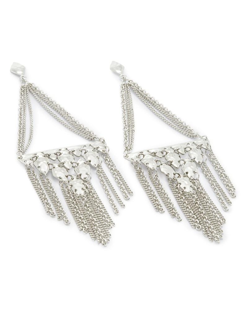 Mandy Statement Earrings in Silver