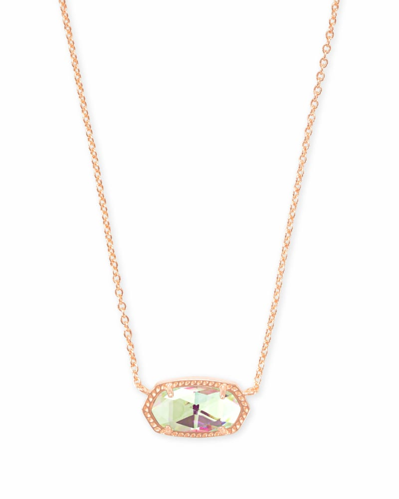 Elisa Pendant Necklace in Rose Gold