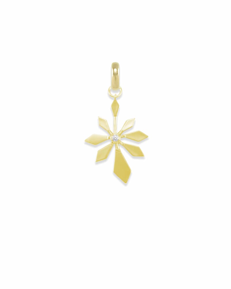 Geometric Flower Charm in Gold
