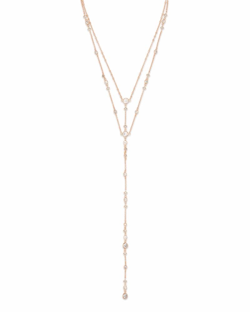 Watson Y Necklace in Rose Gold