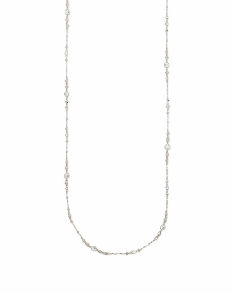 Wyndham Long Necklace in Silver