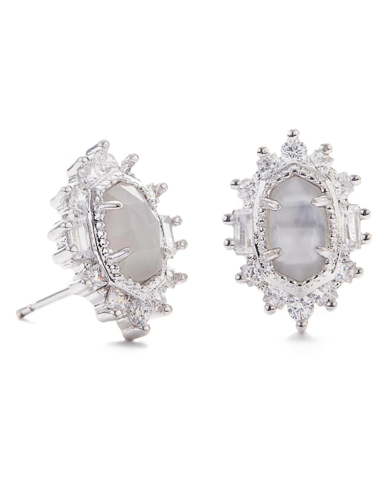 Kaia Stud Earrings in Silver
