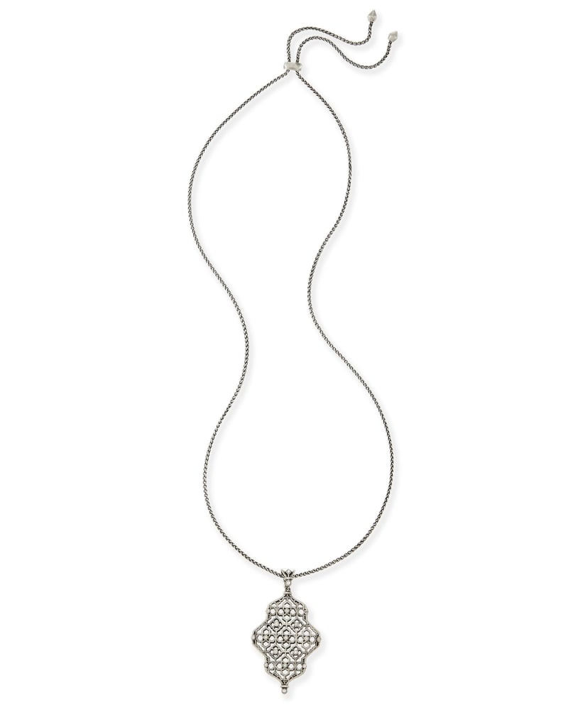 Kathy Long Necklace in Antique Silver
