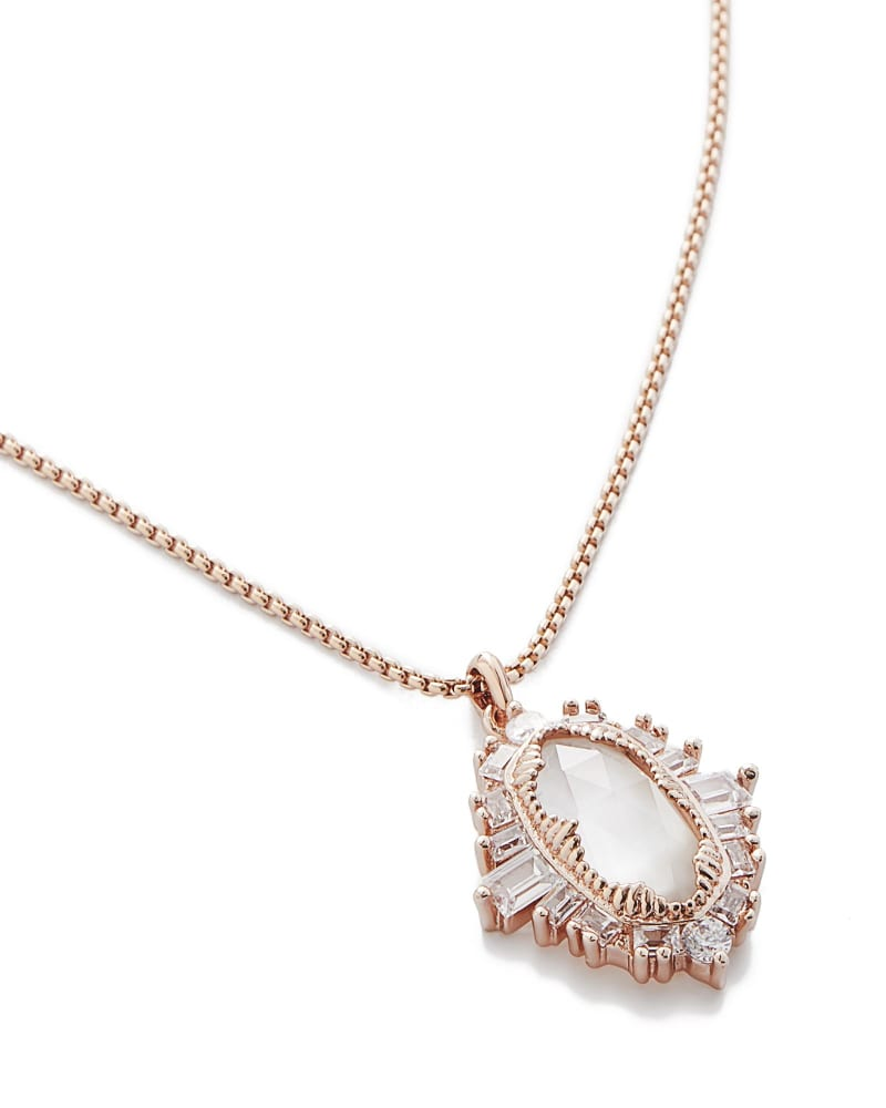 Kay Pendant Necklace in Rose Gold