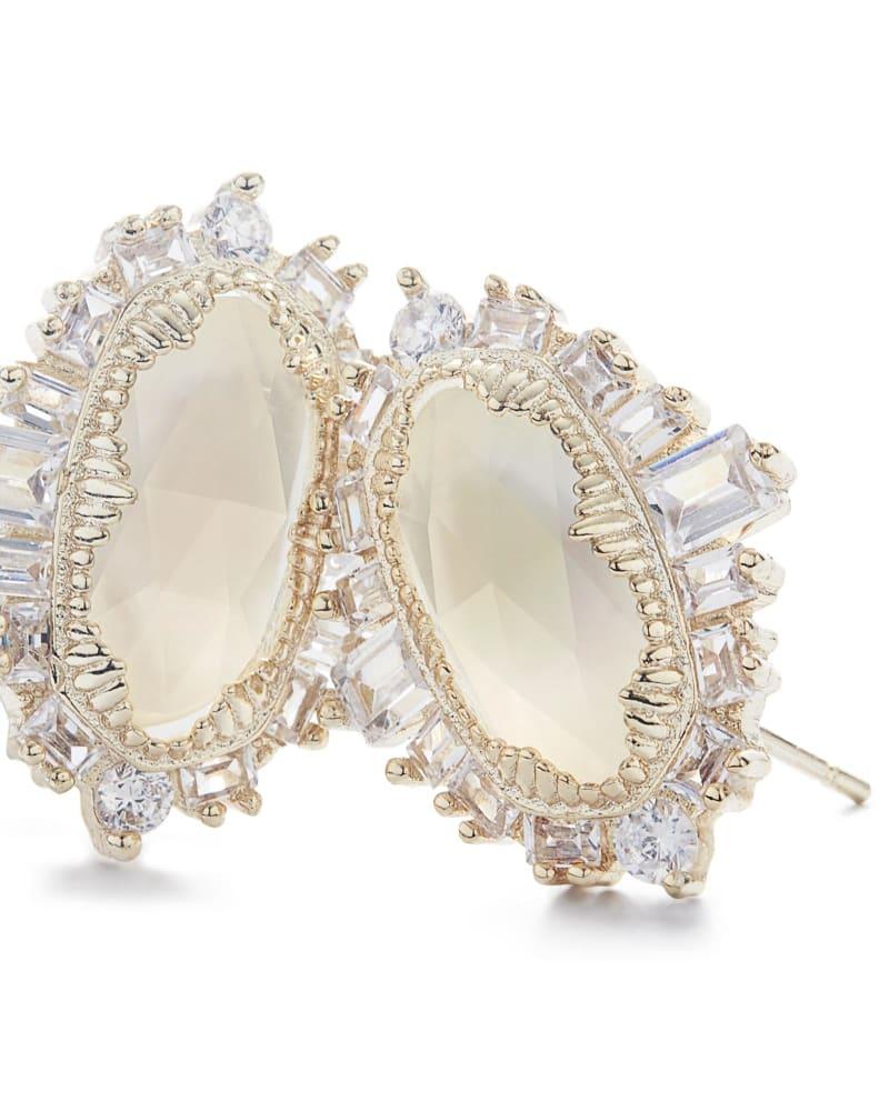 Keely Stud Earrings in Gold