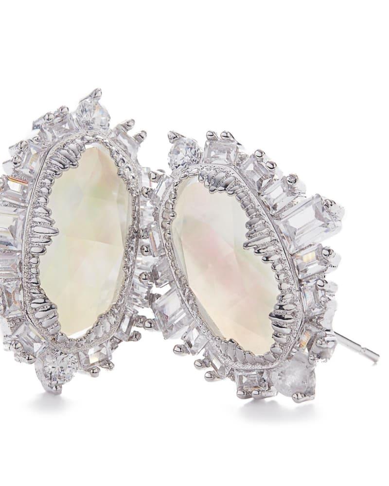 Keely Stud Earrings in Silver