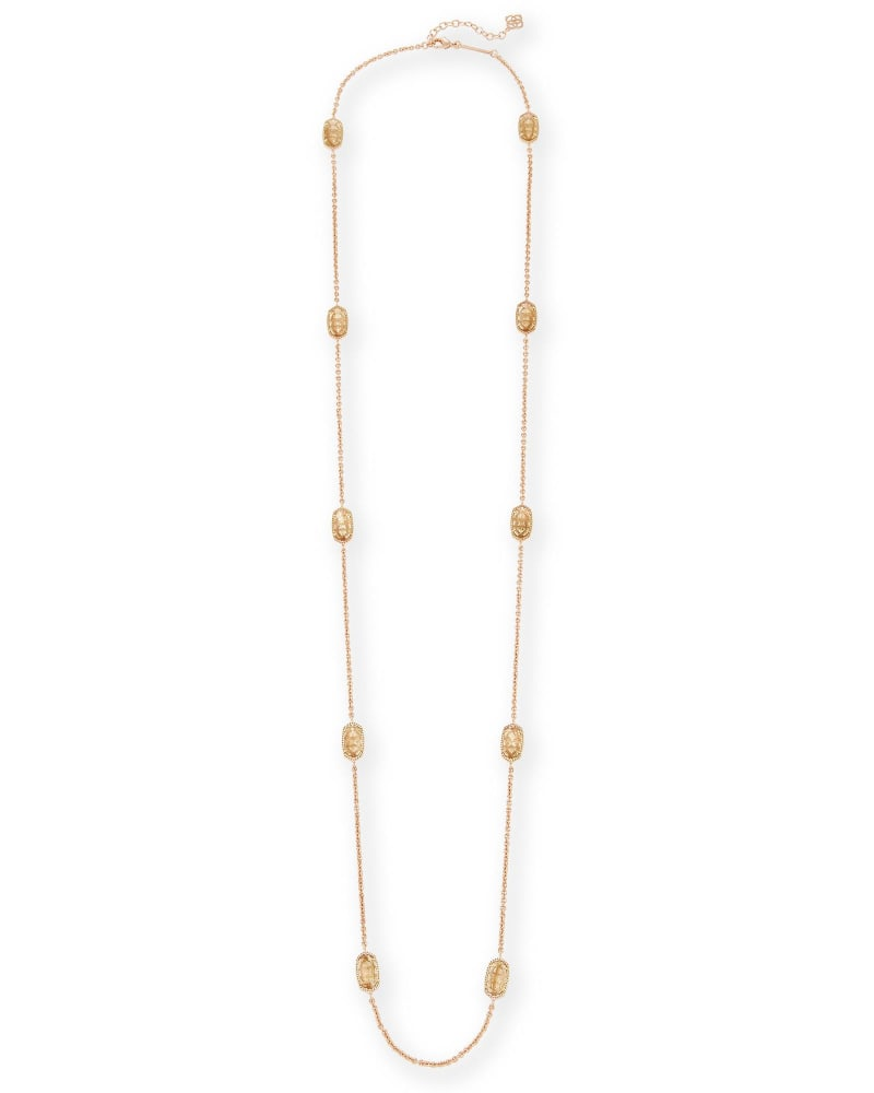Kellie Long Necklace in Gold Dusted Glass