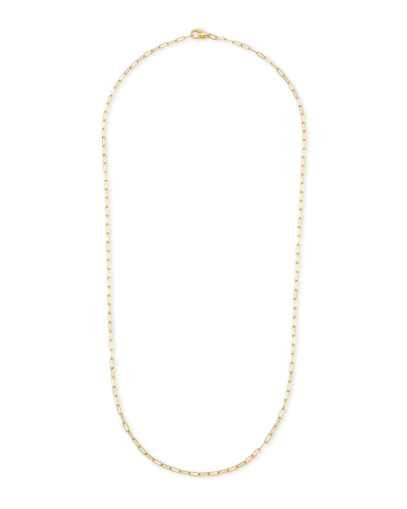 Adrienna Paperclip Chain Necklace in 14k Yellow Gold