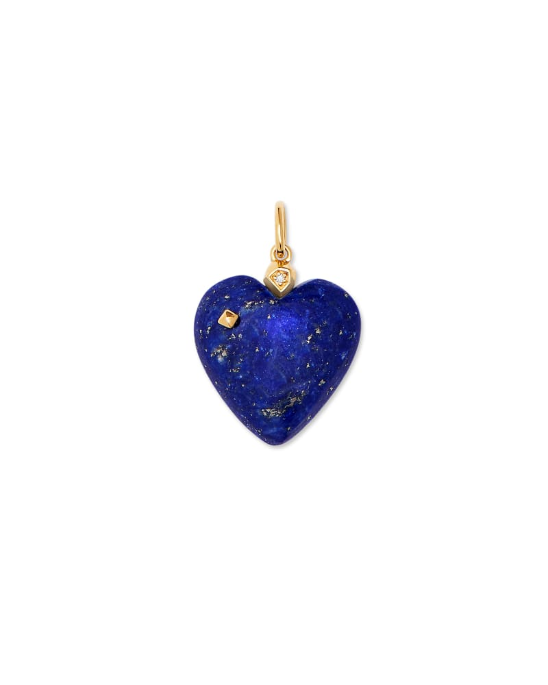 Angie Lapis Carved Heart Charm in 18K Gold Vermeil