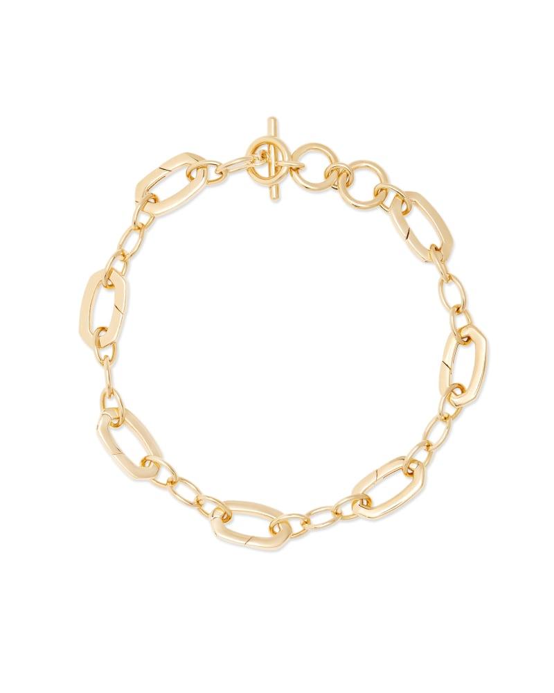 Link & Chain Charm Bracelet in 18k Gold Vermeil