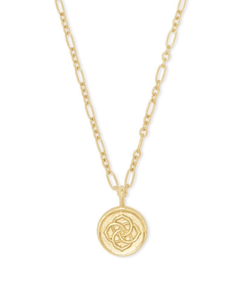 Dira Coin Pendant in Gold
