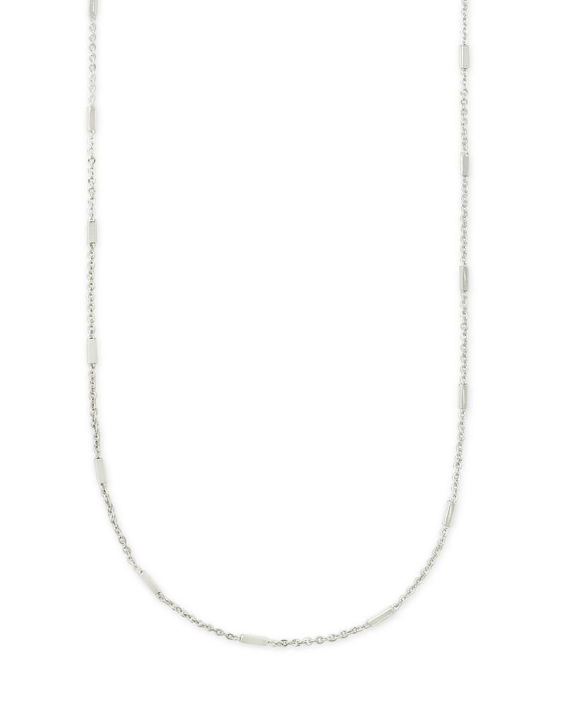 Fern Chain Necklace in Silver