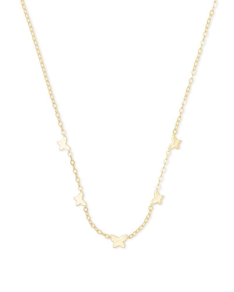 Lillia Butterfly Strand Necklace in Gold   Kendra Scott