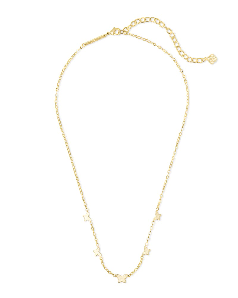Lillia Butterfly Strand Necklace in Gold
