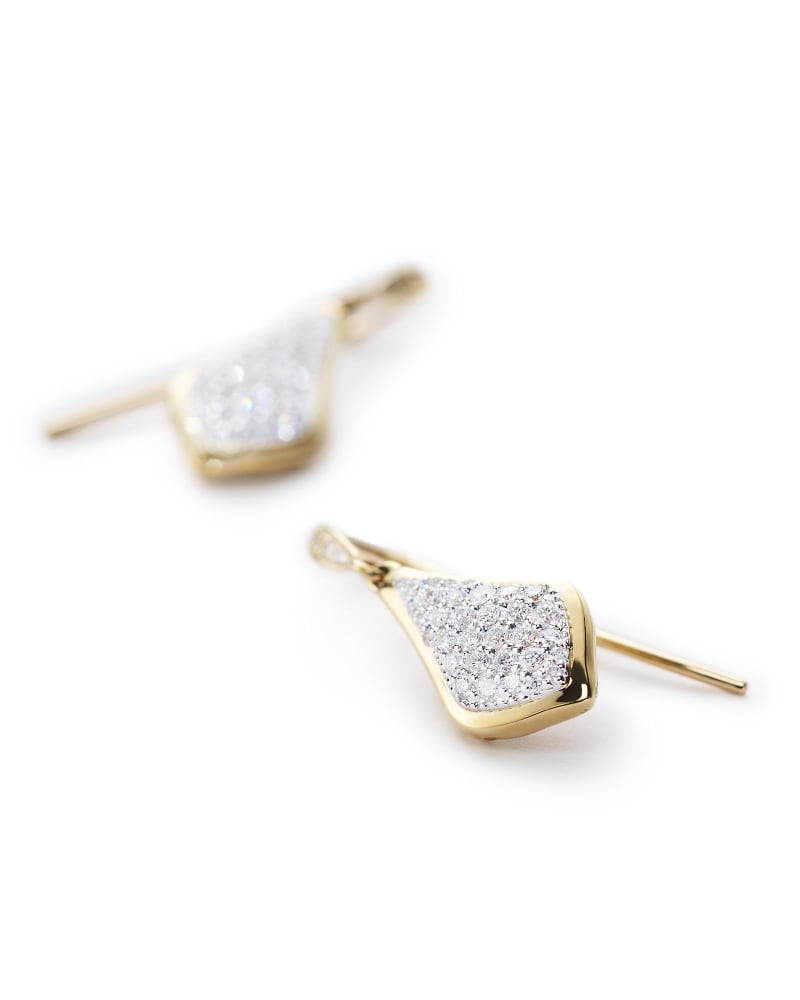 Lexi Drop Earrings in Pave Diamond and 14k Yellow Gold