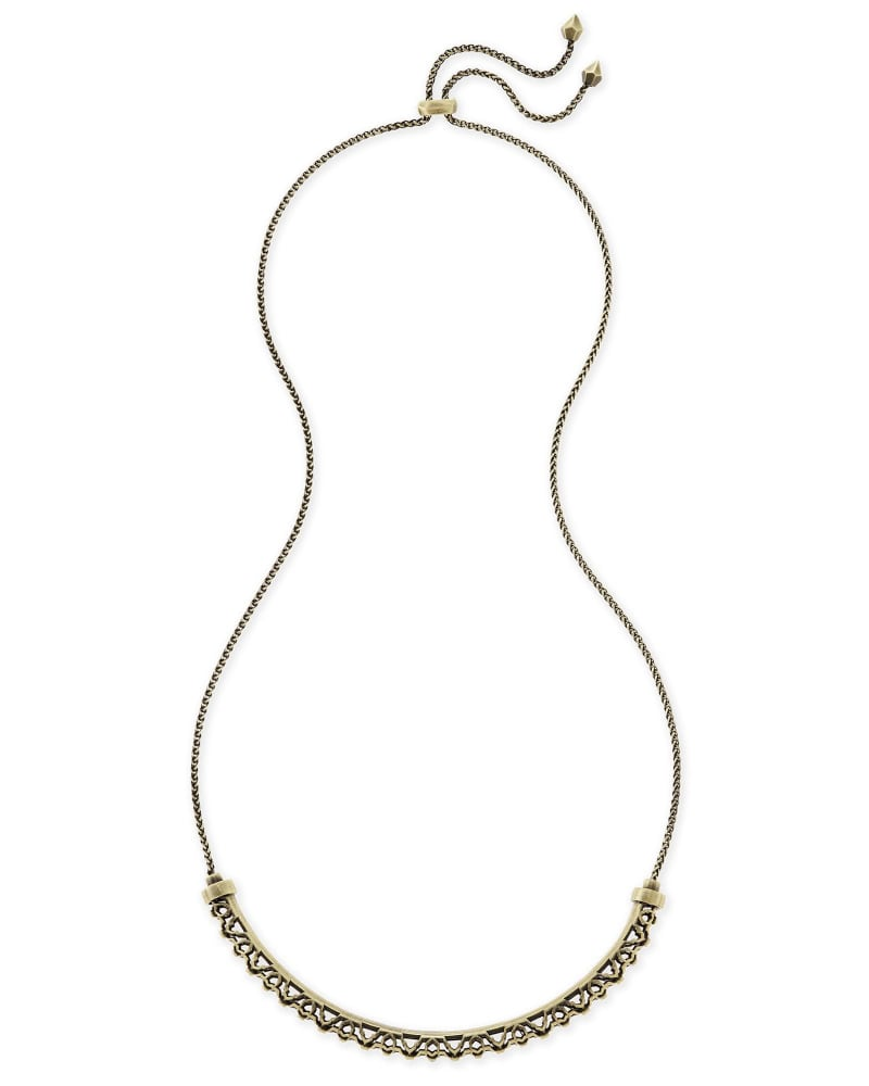 Lucy Choker Necklace in Antique Brass