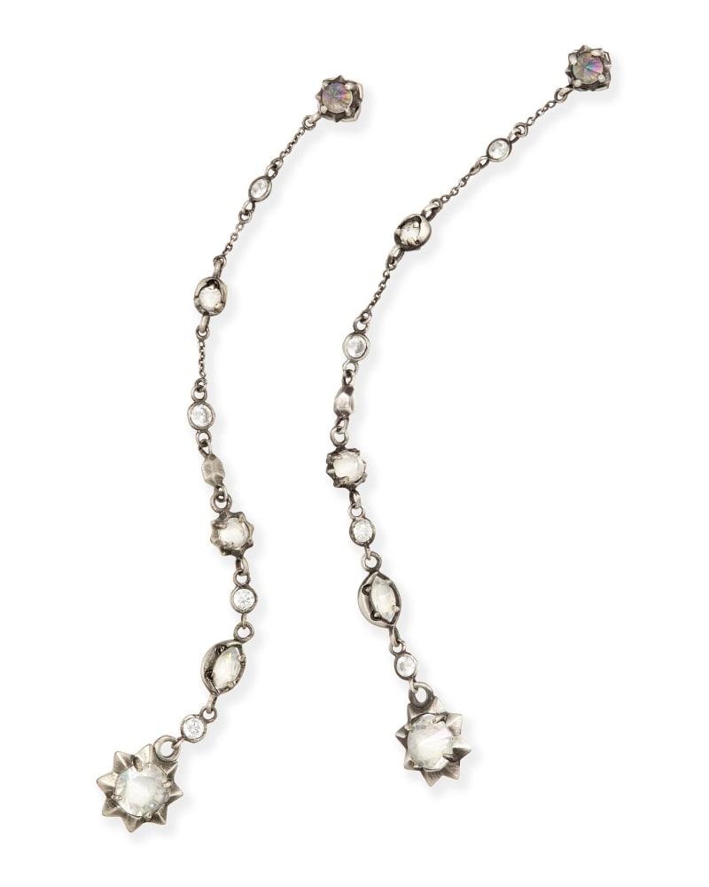 Lydia Shoulder Duster Ear Jackets in Antique Silver