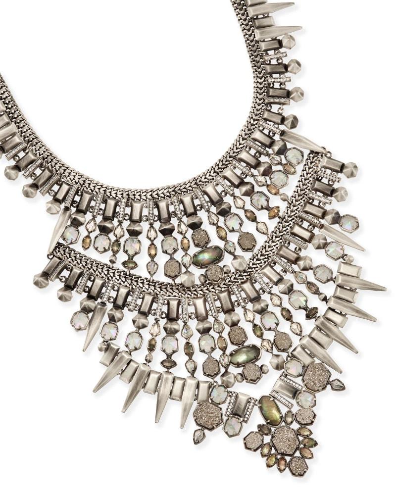 Serayah Statement Necklace in Antique Silver