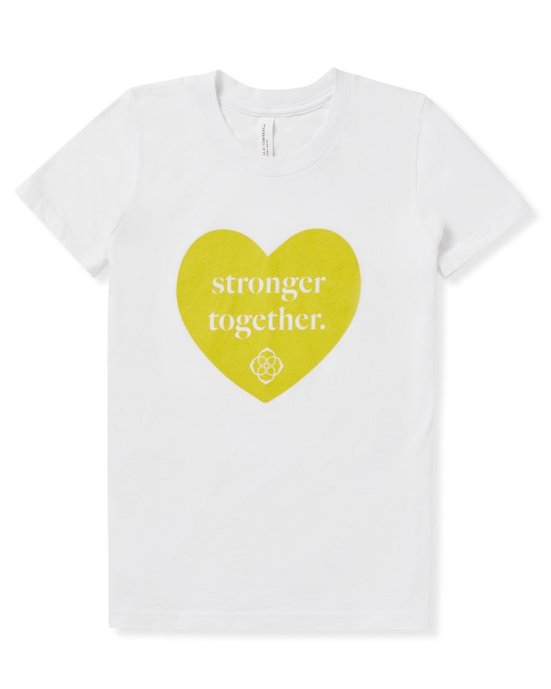 Kid's Stronger Together T-Shirt in Yellow