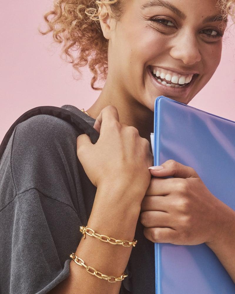 Paige Toggle Bracelet in 18k Gold Vermeil