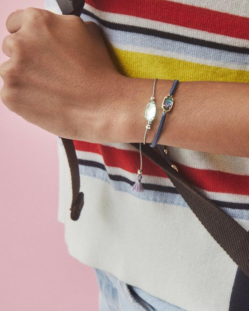 Grayson Navy Friendship Bracelet in Abalone Shell