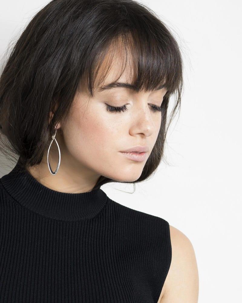 Raquel Statement Earrings in Antique Silver
