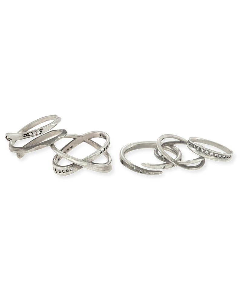 Robyn Ring Set in Antique Silver