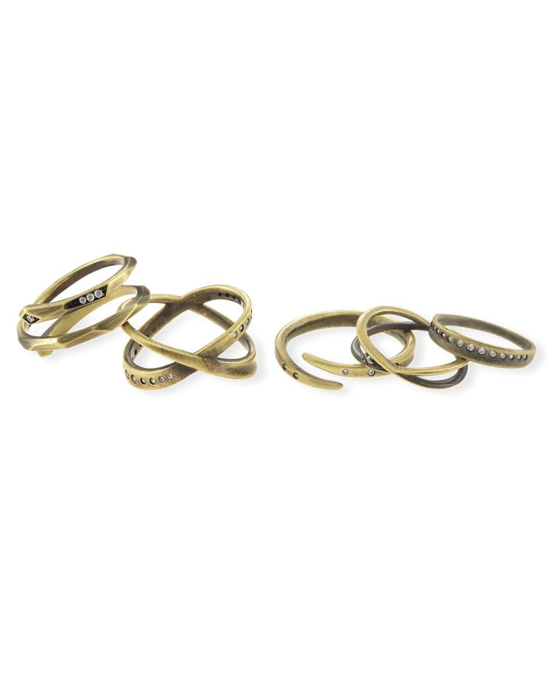 Robyn Ring Set in Antique Brass