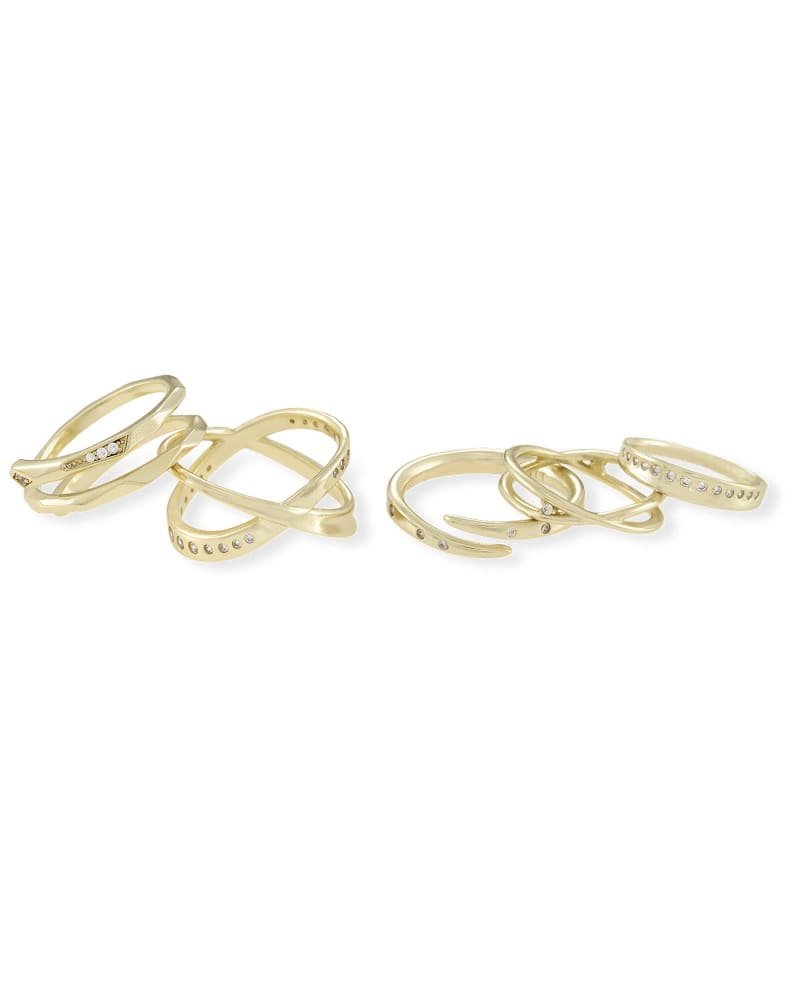 Robyn Ring Set in Gold