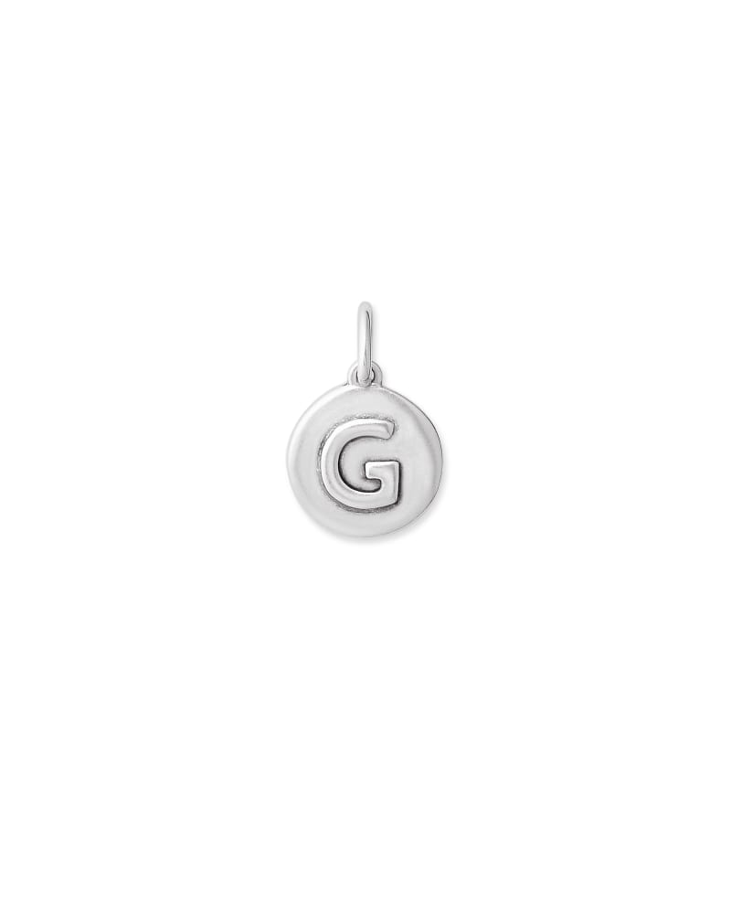 Sterling Silver Letter G Coin