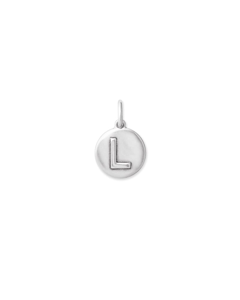 Sterling Silver Letter L Coin