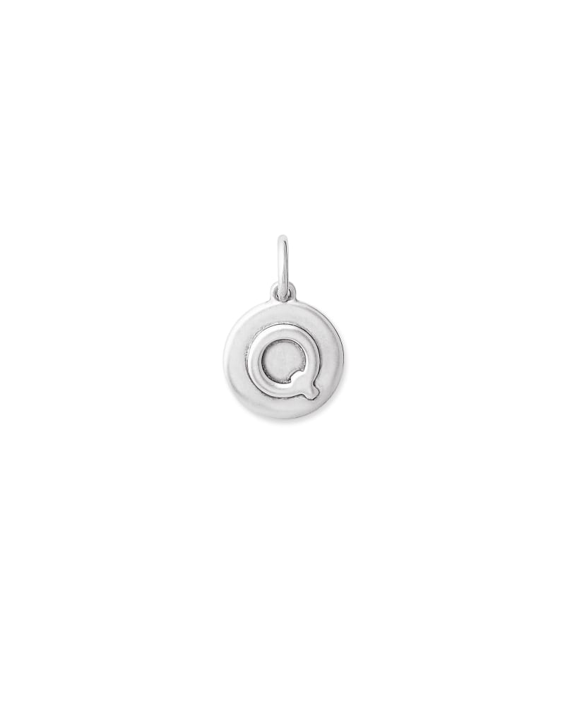 Sterling Silver Letter Q Coin