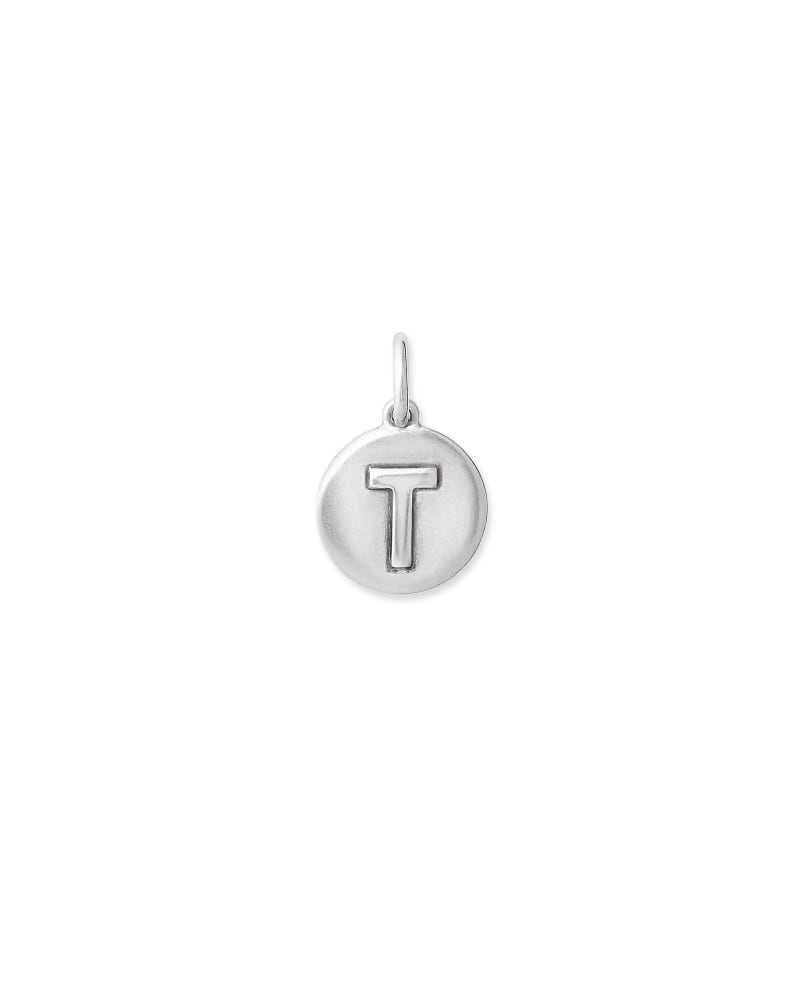 Sterling Silver Letter T Coin