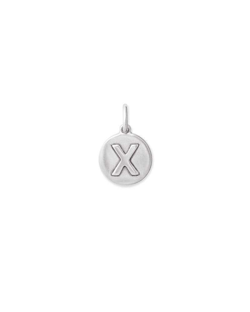 Sterling Silver Letter X Coin