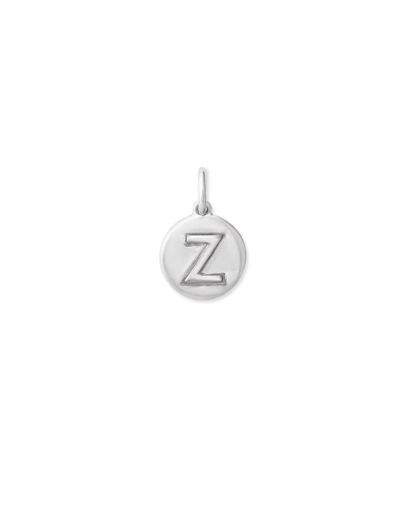 Sterling Silver Letter Z Coin