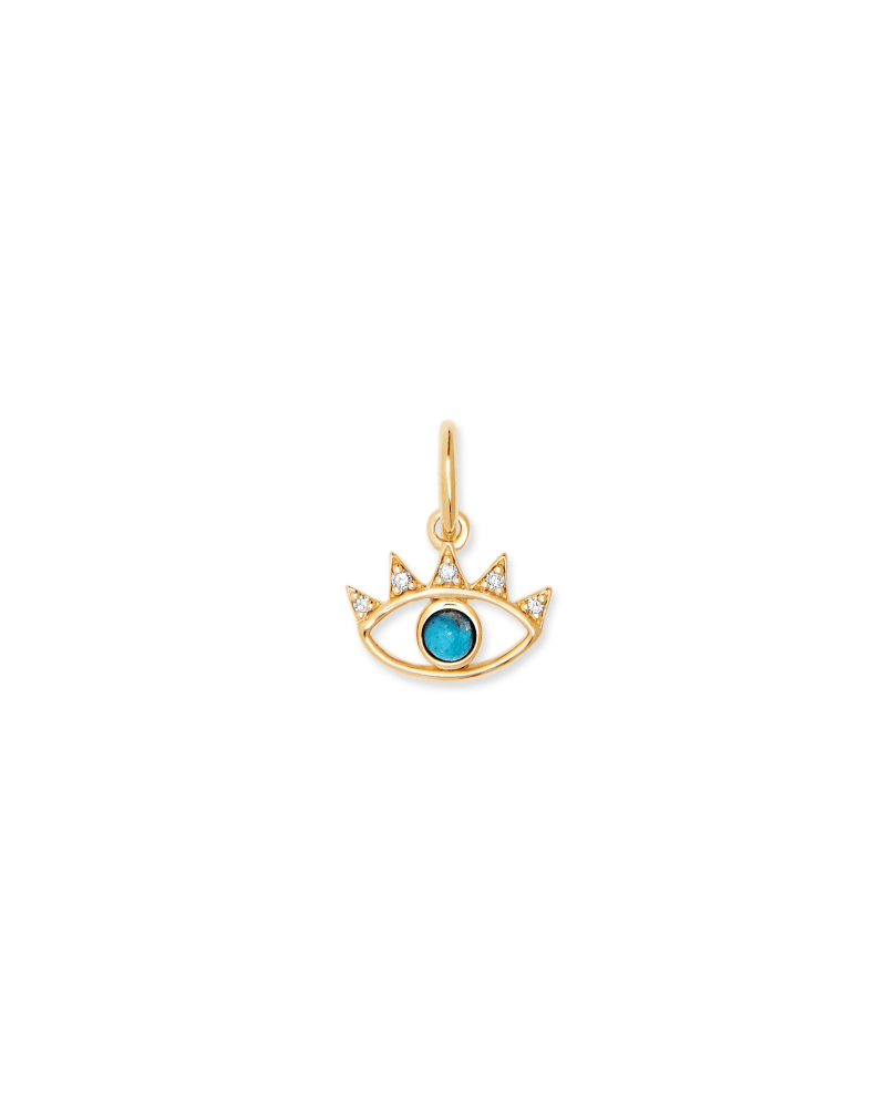 Bright Eye Charm In 18k Gold Vermeil