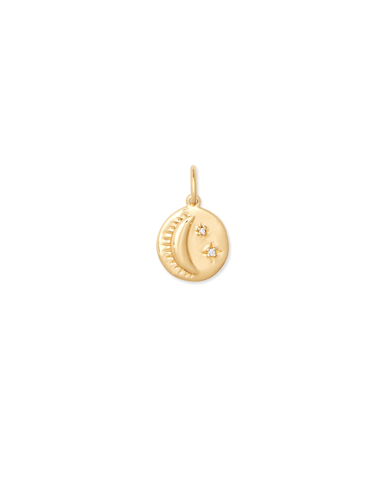 Celestial Coin Charm in 18K Gold Vermeil