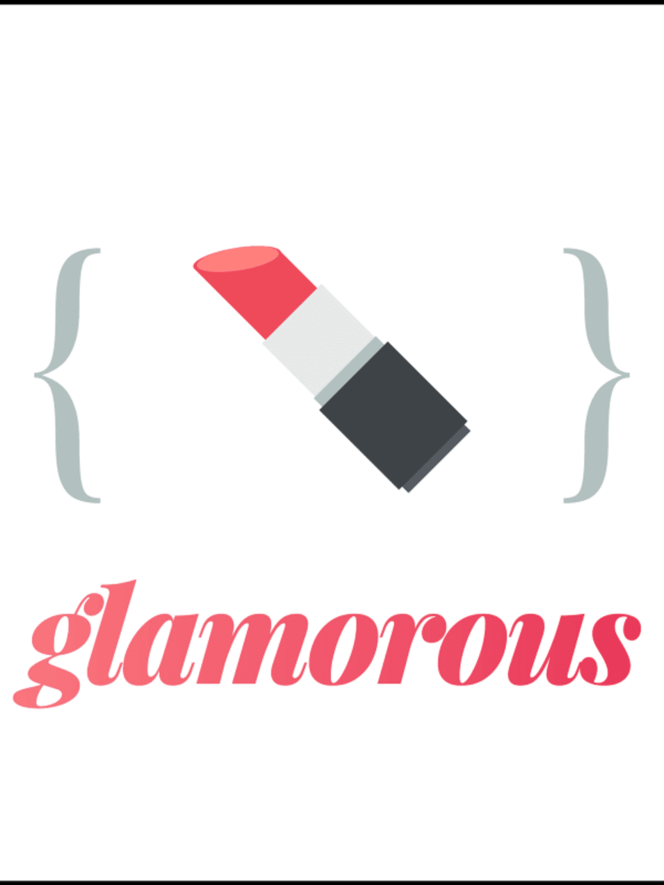 The glamorous logo, shamelessly inspired (with permission) by styled-components