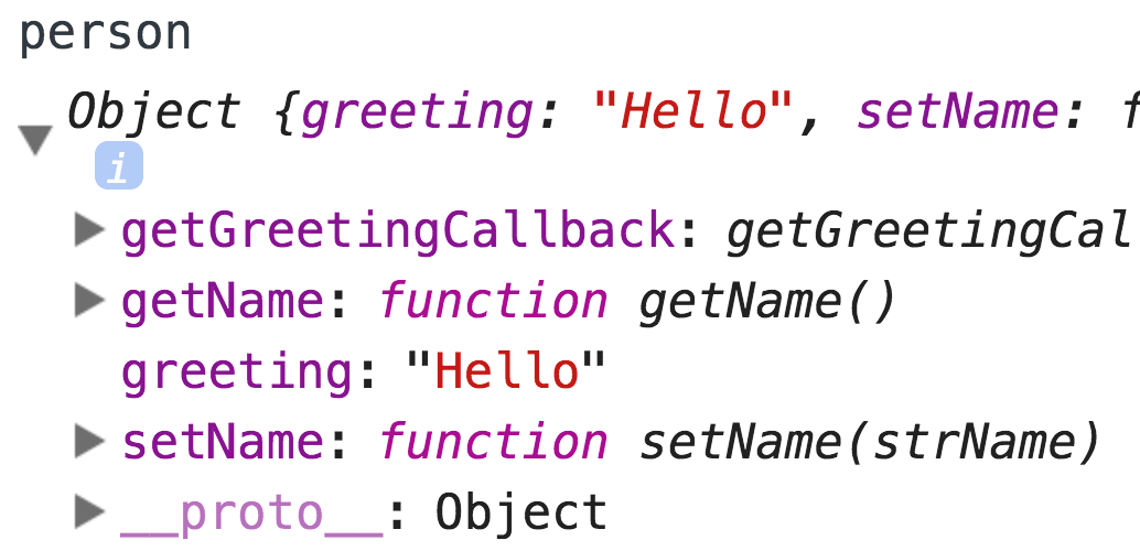 chrome devtools showing the object