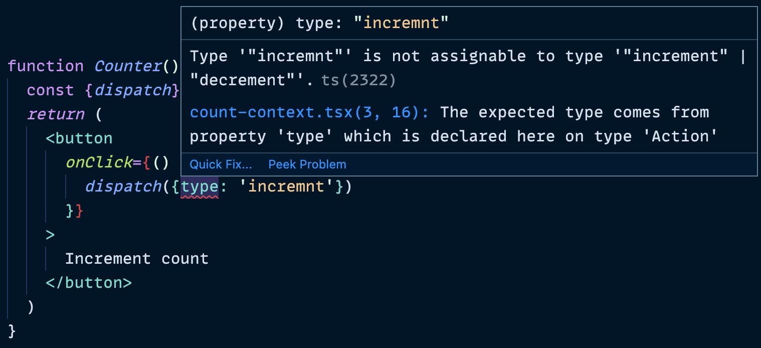 type error on a misspelled dispatch type