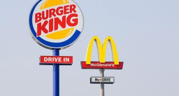 McDonalds next to a Burger King