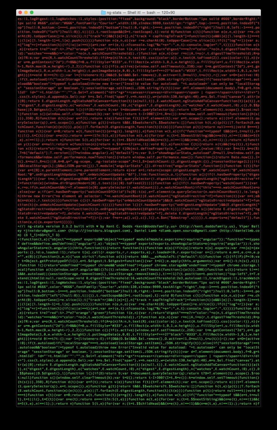 A wall of git diffs