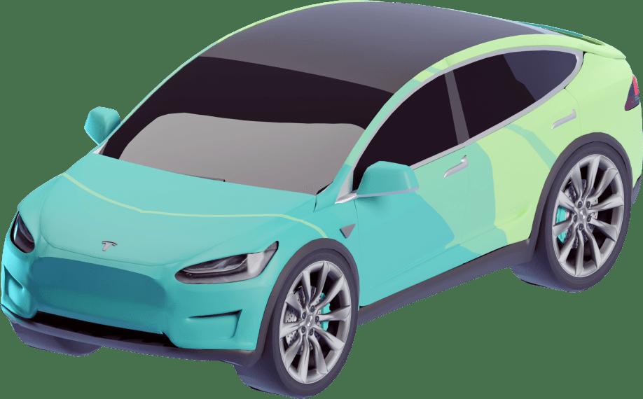 Illustration of a Tesla Model Y