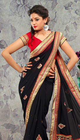 Black Bhagalpuri Silk & Heavy Jari Saree