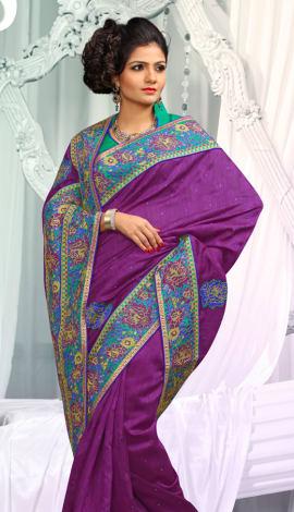 Bagni Jq  Pallu Cotton Resam  & Badla, Saree