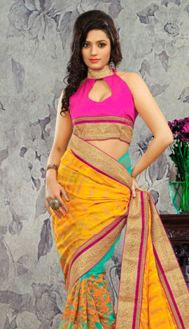 Multi Bhagalpuri Silk & Heavy Jari Saree