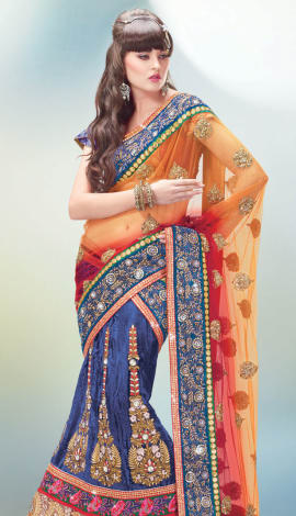 Blue Art Silk Lehenga