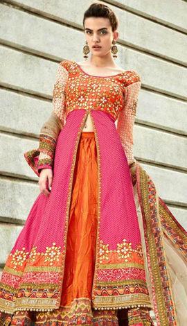 Pink  Jacqurad Salwar Kameez